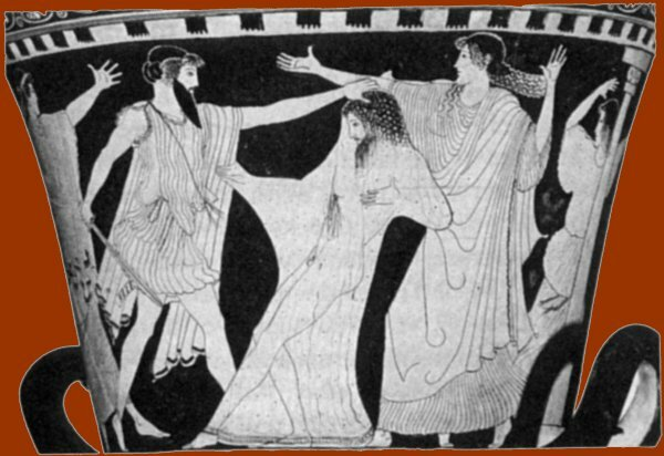 an analysis of character aeschyluss in the play agamemnon Agamemnon gone, clytemnestra and aegisthus become lovers clytemnestra and aegisthus intend to kill agamemnon on his return from troy agamemnon , victor at troy, returns to argos with cassandra , priam's daughter, among the spoils.