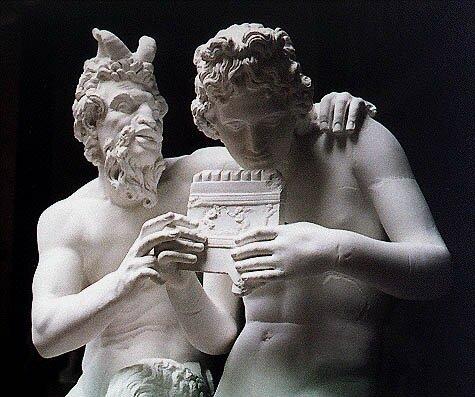 Ancient eros myths: greek god pan
